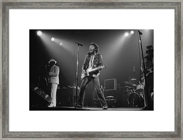 Springsteen Live In New Jersey Framed Print