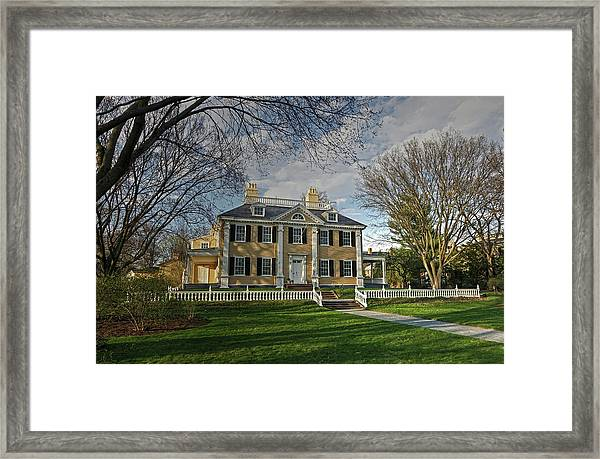 Springtime At Longfellow House Framed Print