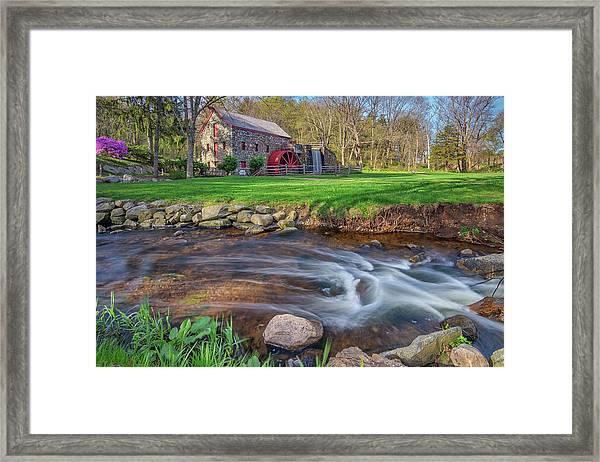 Springtime At The Grist Mill Framed Print