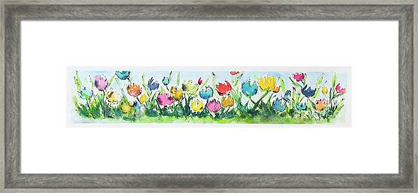 Framed Print featuring the painting Springtime Tulips by Wendy Ray