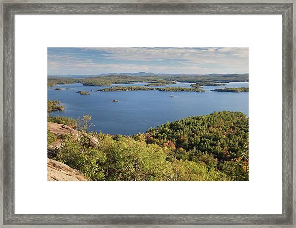 Squam Lake, New Hampshire Framed Print by Denisebush