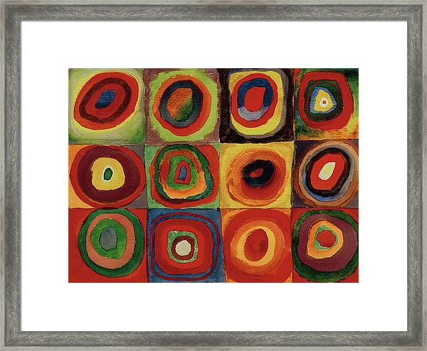 Squares With Concentric Circles 1913  Framed Print