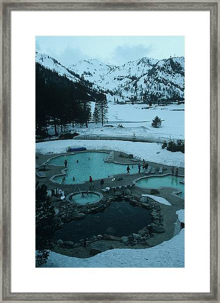 Squaw Valley Pool Framed Print