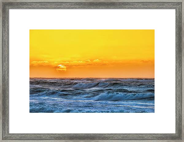 Sunset On A Windy Evening Framed Print by Fernando Margolles
