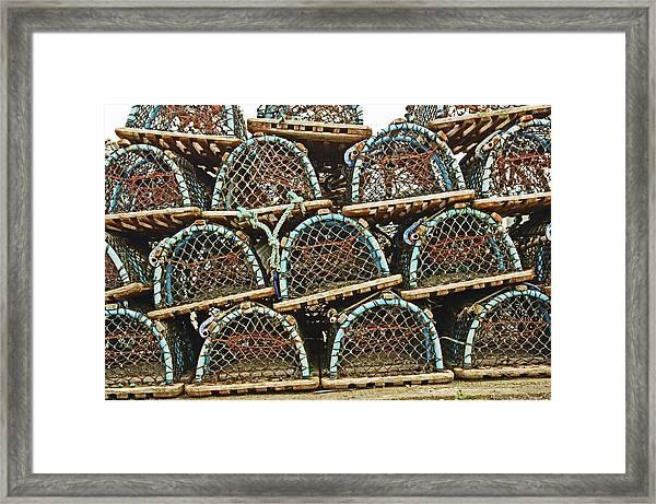 St. Andrews. Lobster Pots. Framed Print