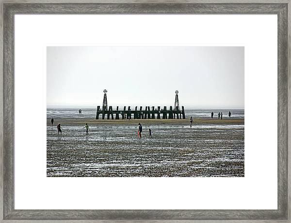 St. Annes. On The Beach. Framed Print