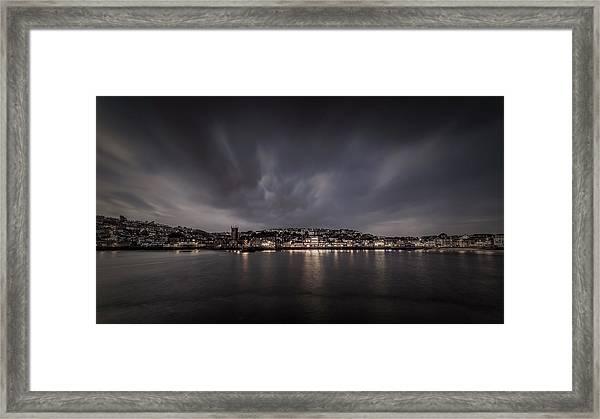 St Ives Cornwall - Dramatic Sky Framed Print