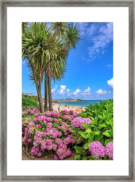 St Ives Cornwall - Summer Time Framed Print