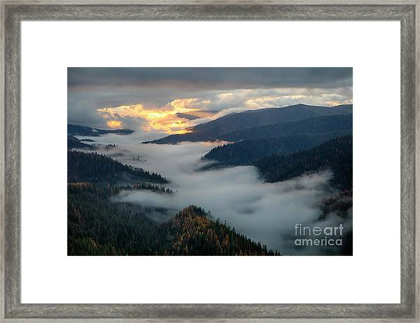 St. Joe Morning Mists Framed Print