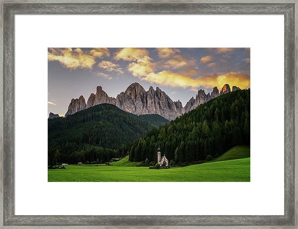St Johann Sunrise Framed Print