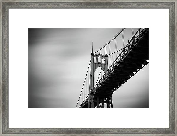 Framed Print featuring the photograph St. Johns Bridge by Nicole Young