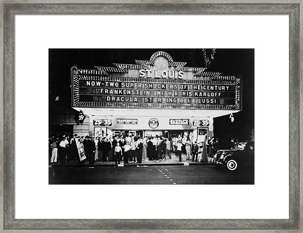 St Louis Cinemaplex, Circa 1930 Framed Print