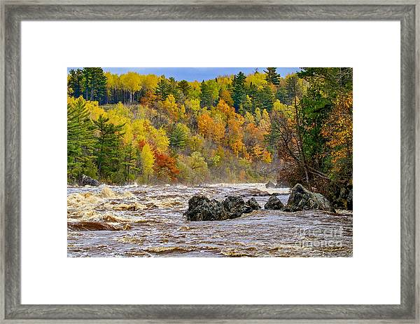 St. Louis River At Jay Cooke Framed Print