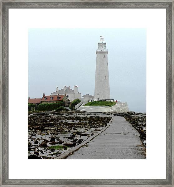 St Mary's Lighthouse Framed Print