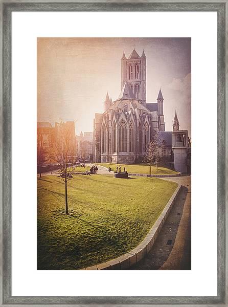 St Nicholas Church Ghent Belgium  Framed Print