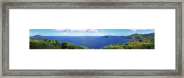 St. Thomas Northside Ocean View Framed Print