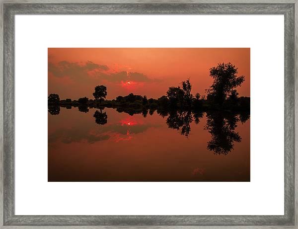 St. Vrain Sunset Framed Print
