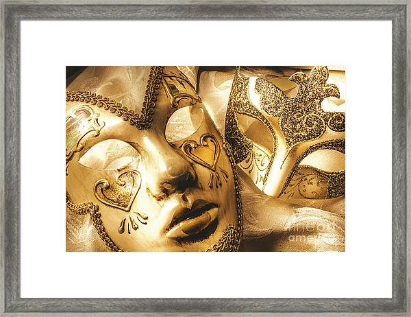 Staged Out Romances Framed Print