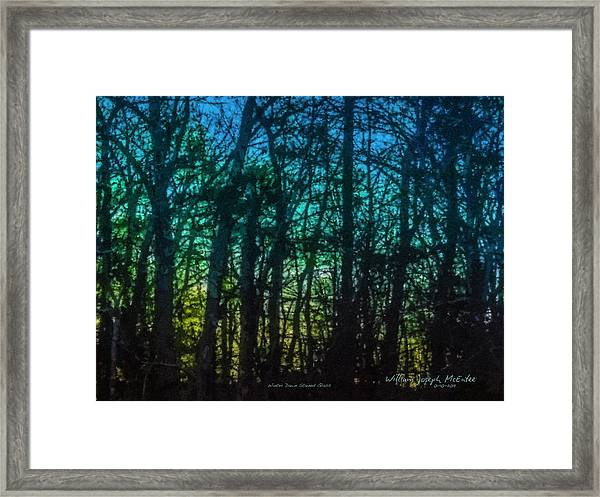 Stained Glass Dawn Framed Print