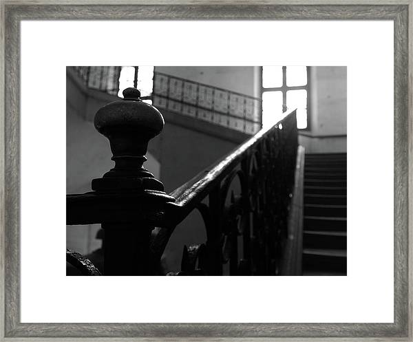 Stairs, Handrail Framed Print