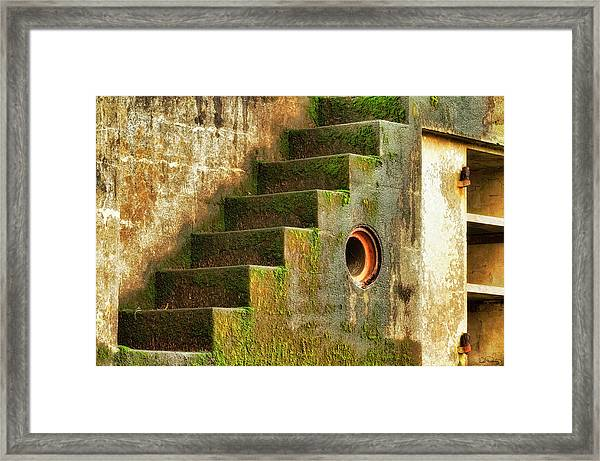 Framed Print featuring the photograph Stairway Abstract by Dee Browning