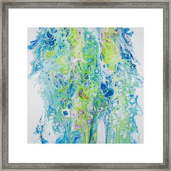 Standing In The Surf Framed Print