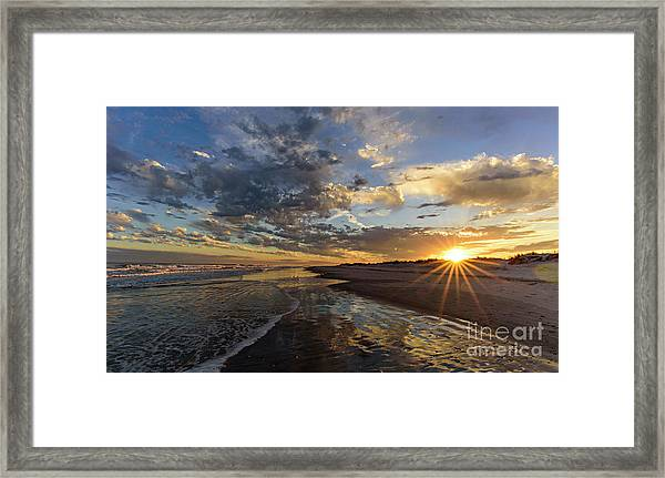 Framed Print featuring the photograph Star Point by DJA Images