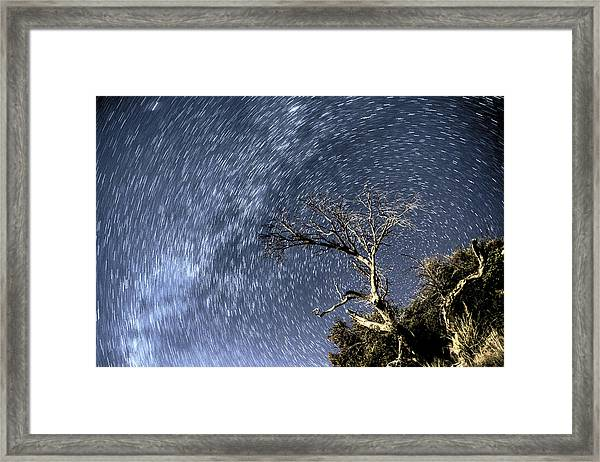Star Trail Wonder Framed Print