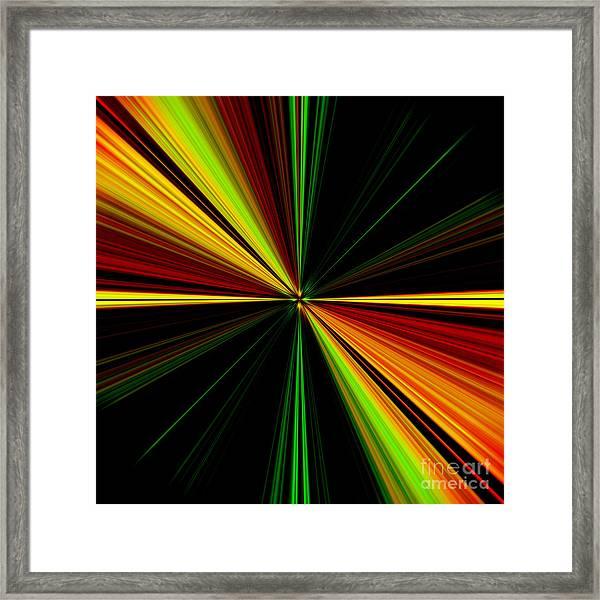 Starburst Light Beams Design - Plb461 Framed Print
