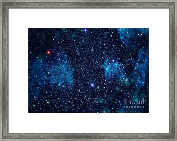 Starry Outer Space Background Texture Framed Print