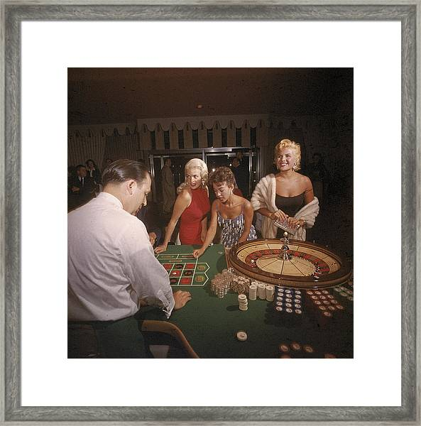 Stars At The Roulette Table Framed Print