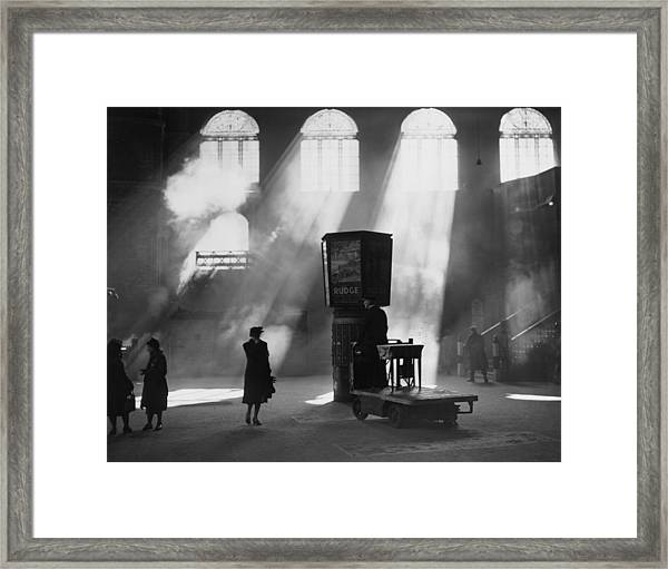 Station Sunlight Framed Print