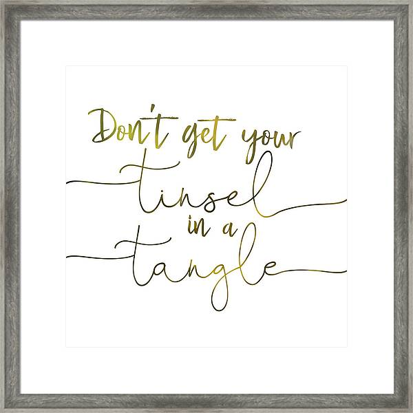 Stay Cool Quote Framed Print