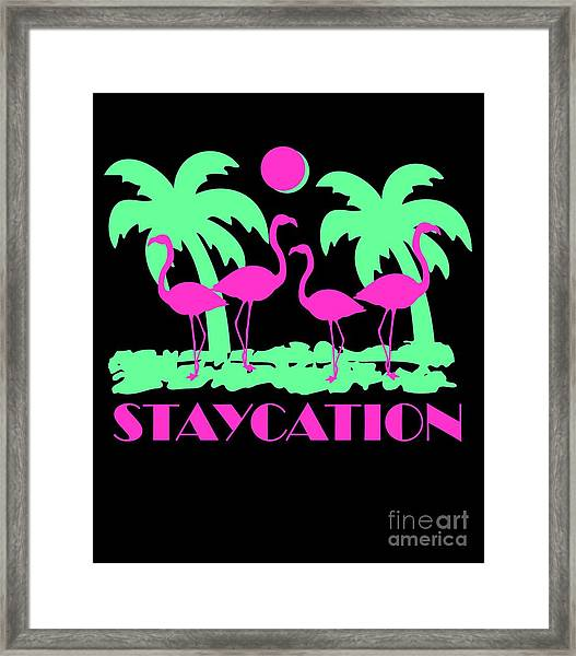 Framed Print featuring the digital art Staycation by Flippin Sweet Gear