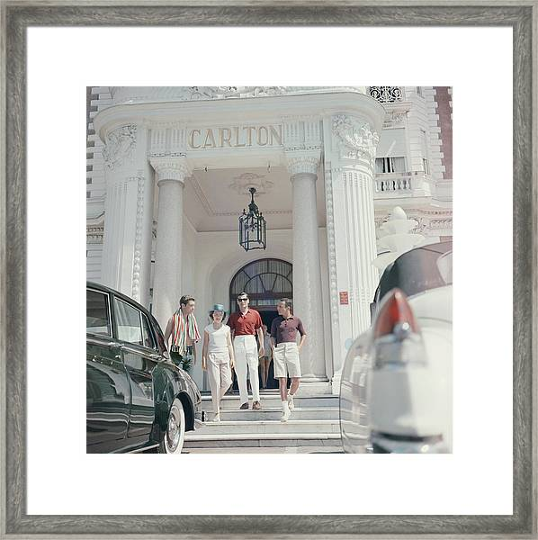 Staying At The Carlton Framed Print