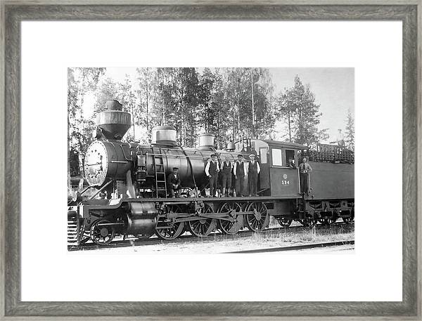 Steam Engine Locomotive 594 Finland Framed Print