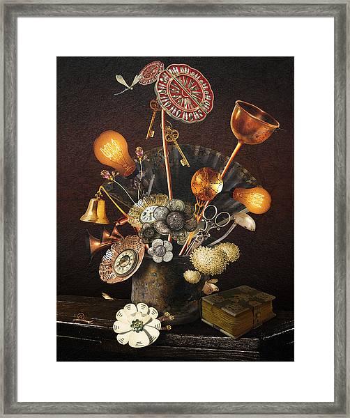 Steampunk Bouquet Framed Print