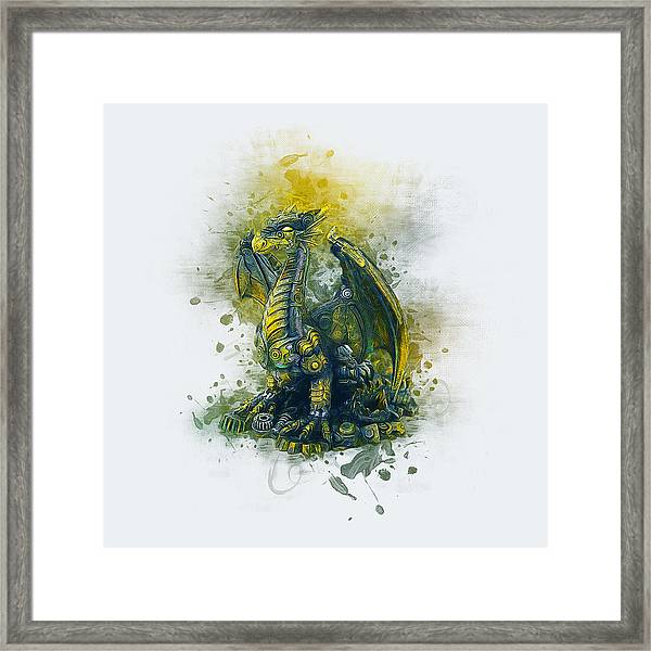 Steampunk Dragon Framed Print