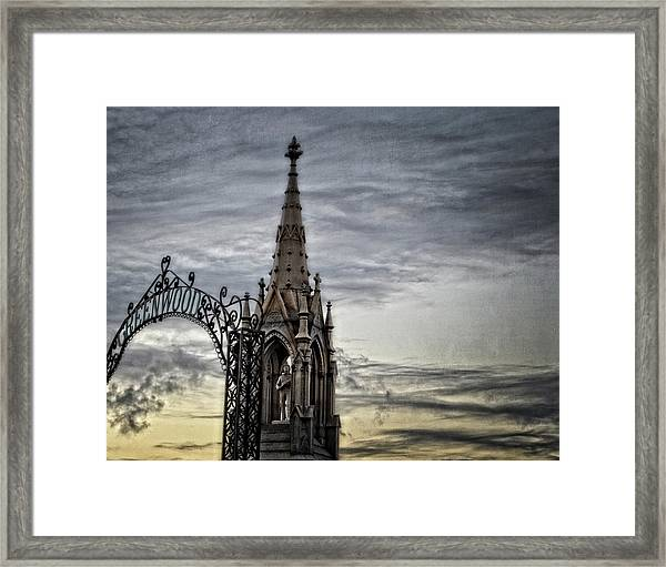 Steeple And Steel Framed Print