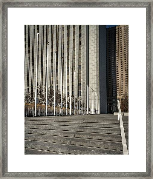 Steps And Poles Framed Print