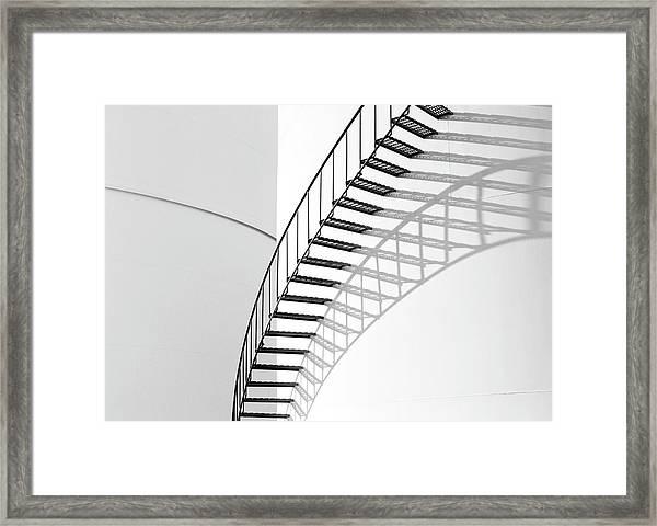 Steps On Oil Drum Framed Print