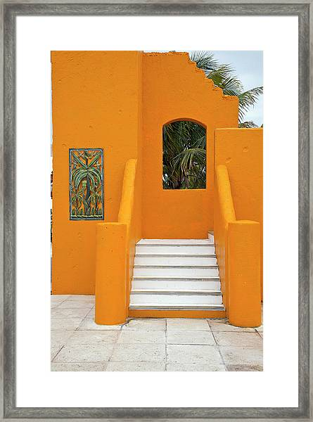 Steps, Patterns, Colors Of The Framed Print by Barry Winiker