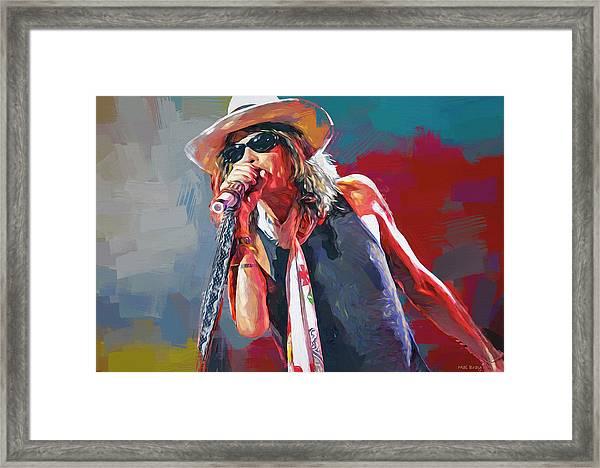 Steven Tyler Aerosmith Framed Print