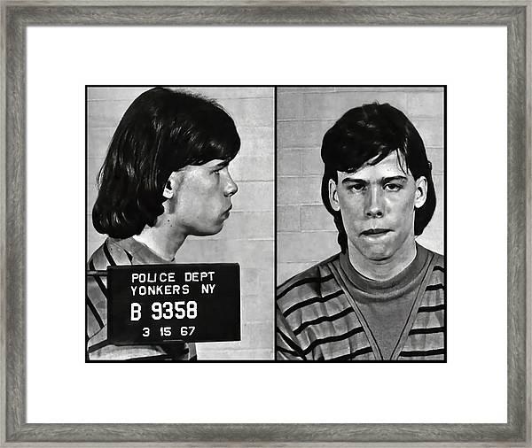 Steven Tyler Mugshot 1967 Framed Print