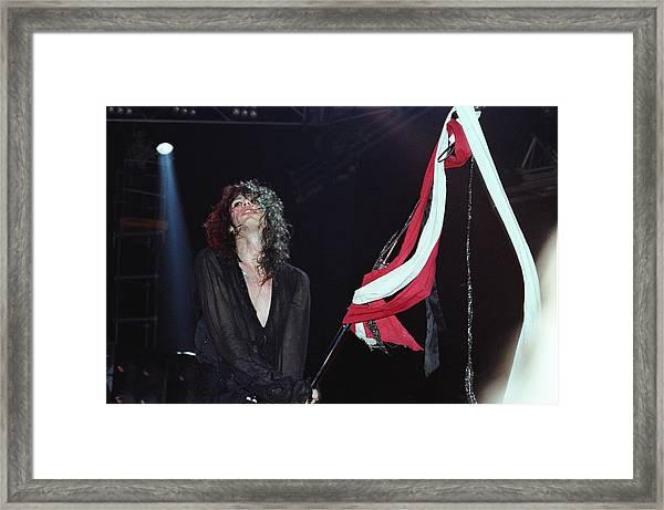 Steven Tyler Performs Live Framed Print