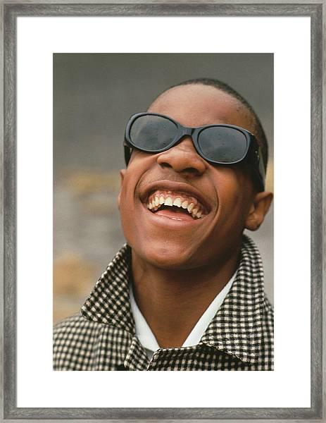 Stevie Wonder Framed Print by Archive Photos