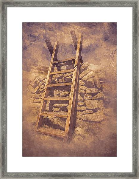 Stile Below Binnian Framed Print by Norma Slack