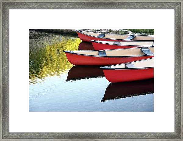 Still Canoes Framed Print