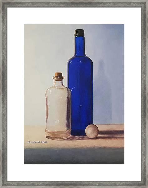 Still Life With Blue Bottle Framed Print