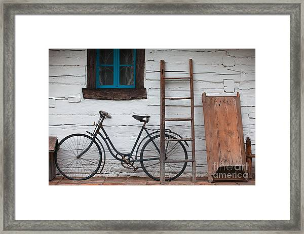Still Life With Old Barn Framed Print